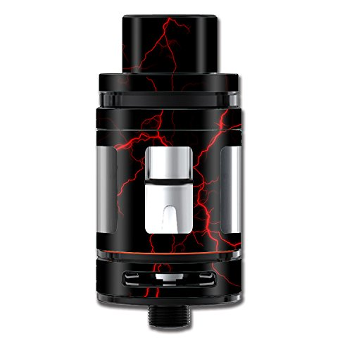 Skin Decal Vinyl Wrap for Smok Mini TFV8 Big Baby Beast Tank Vape Mod stickers skins cover/Red Lightning Bolts Electric