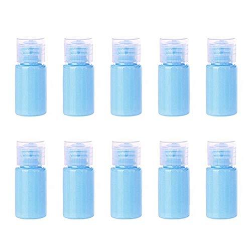 xaihe10 botellas de spray de 15 ml de plástico transparente para caramelos, botellas de spray de viaje atomizador de líquidos recargables para maquillaje cosmético