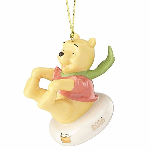 Lenox Disney 2016 Winnie The Pooh Ornament Tube Sledding Fun With Pooh