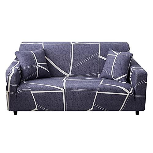 Fundas elásticas Funda de sofá elástica para Sala de Estar Funda de sofá seccional Funda de sillón en Forma de L A17 4 plazas