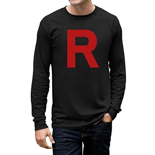 Halloween Men's - Rocket Inspired Long Sleeve T-Shirt Large Black