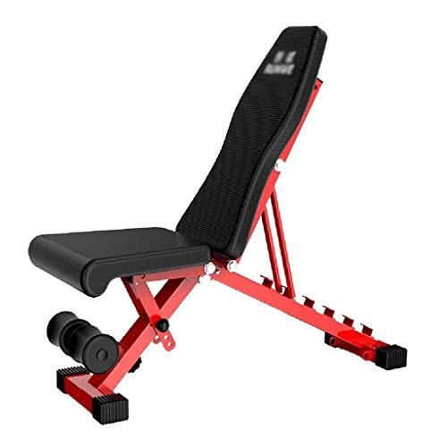 NMDD Klappbarer Hantelhocker Home Multifunktions-Fitnessstuhl Erwachsene Gewichte Bank Sport Fitnessgeräte, Last 150 kg (Farbe: Schwarz, Größe: 106 * 32 * 42 cm)