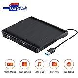 Externes CD Laufwerk, Tragbares USB 3.0-CD/DVD +/- RW Laufwerk Ultra Slim DVD/CD ROM Umschreibbrenner Optisches DVD Laufwerk Für Laptop-Desktop PC Win 10/8 / XP und Linux Os MacBook Pro