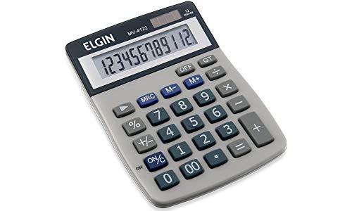 Calculadora Elgin com 12 dígitos e visor inclinado MV-4122, Elgin, 42MV41220000, Cinza