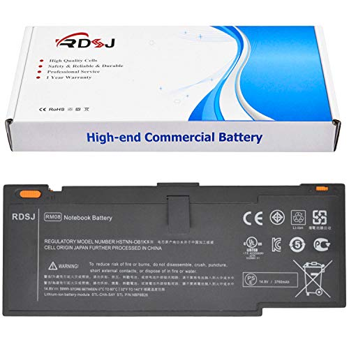 RM08 Laptop Battery for HP Envy 14 14-1000 RMO8 HSTNN-XB1S HSTNN-XB1K HSTNN-OB1K HSTNN-UB1K HSTNN-I80C 592910-351 593548-001 592910-541 NBP8B26 RM08059 14.8V 59Wh 8Cell