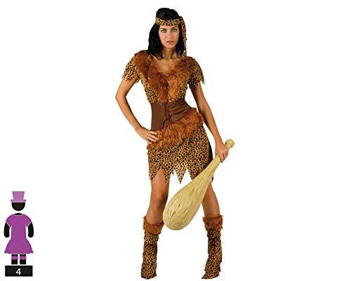 Atosa-61703 Atosa-61703-Disfraz Cavernicola-Adulto Mujer, Color marrón, XS a S (61703 , color/modelo surtido