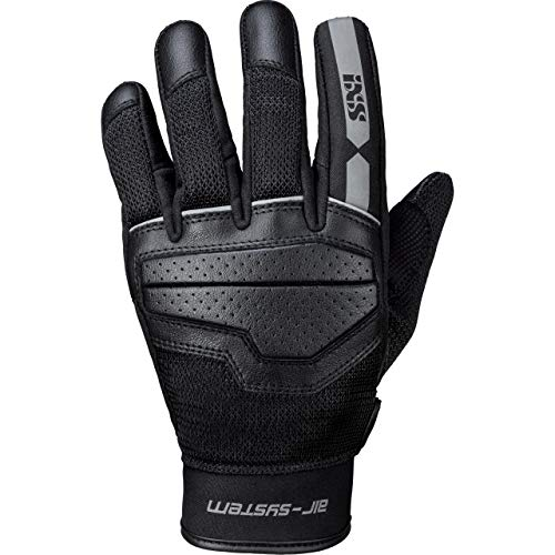 IXS Motorradhandschuhe kurz Motorrad Handschuh Evo-Air Classic Handschuh schwarz/grau XL, Herren, Lifestyle, Ganzjährig, Polyester