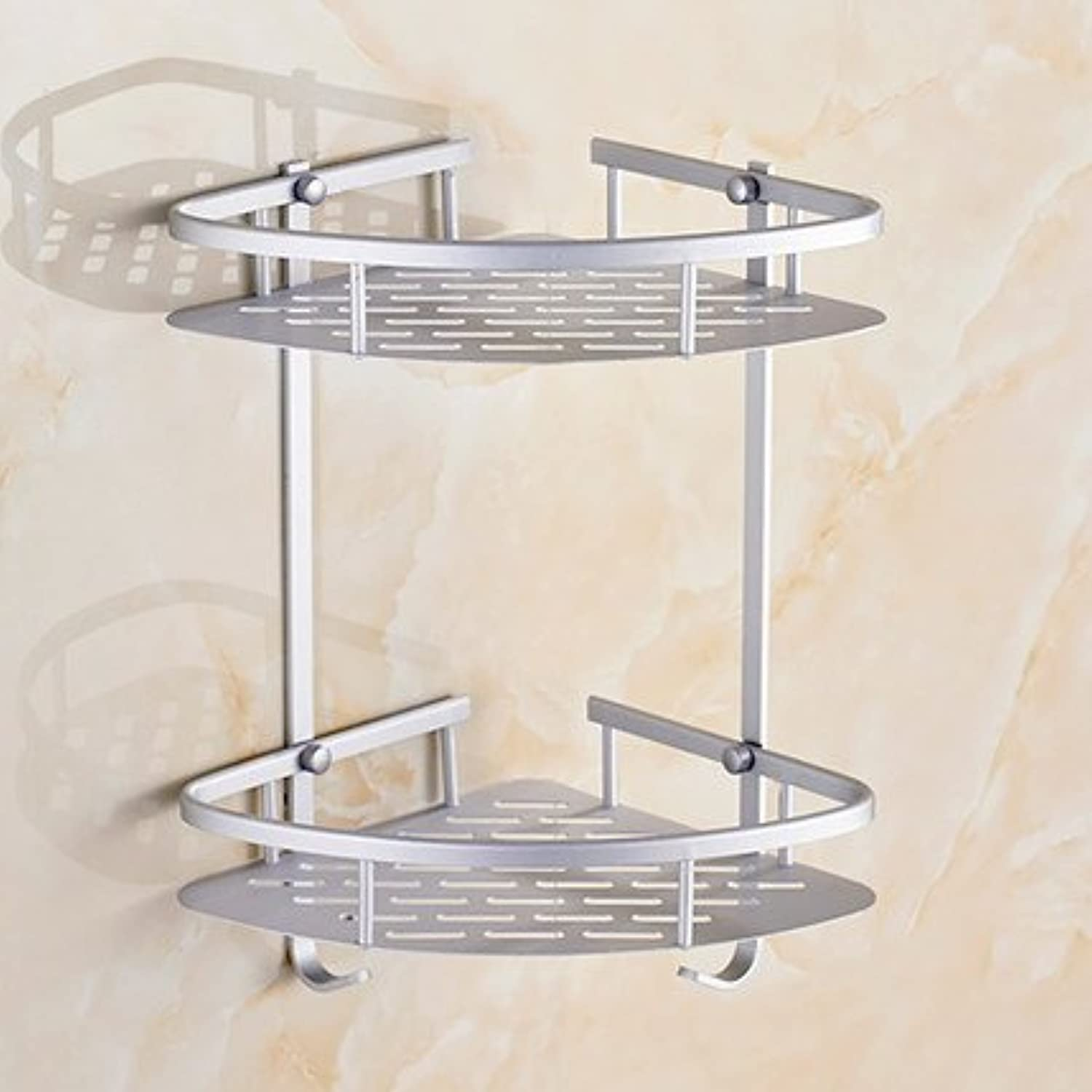 Space aluminum 53 two-tier bathroom shelf bathroom shelf