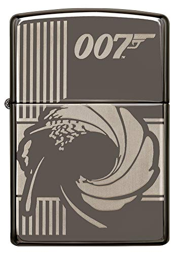 ZIPPO – James Bond 007, Black Ice – Benzin Sturm-Feuerzeug, nachfüllbar, in hochwerti-ger Geschenkbox