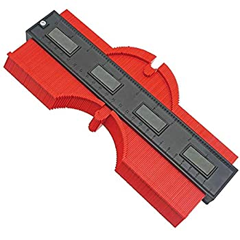 EZGAUGE   Master Outline Gauge 10 inch Contour Gauge for Professional Precise Measurement  2019 Upgraded Red