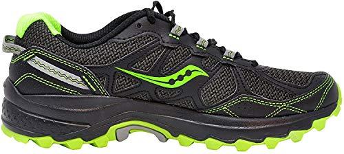 Saucony Men's Excursion TR11 Running Shoe (10 M US, Black/Slime)