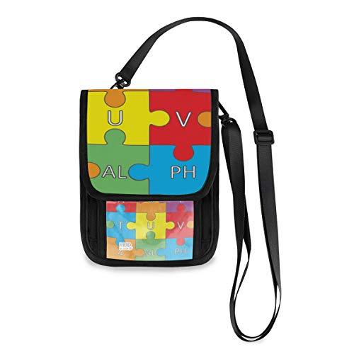 XiangHeFu Geldbörse Telefon Tasche große Kapazität Organizer Brieftasche Buchstabe Wort Alphabet Puzzle Kartenhalter Münzkoffer