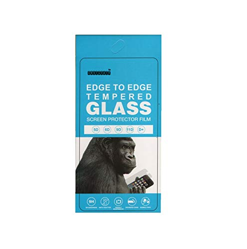OBSTINATE Edge to Edge Tempered Glass Screen Protector for Motorola Moto E6s (2020) (Black)