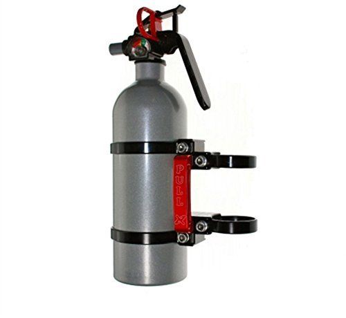 Axia Alloys Quick Release Fire Extinguisher Mount w/ 2 lb. Extingushier and Two 2.0 Inch Clamps