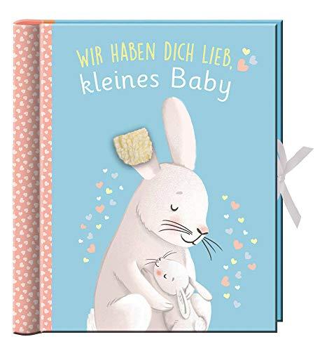 Babyalbum - Wir haben dich lieb, kleines Baby: Erinnerungsalbum, Baby-Album für Junge oder Mädchen, mit vielen Einstecktaschen und Extras