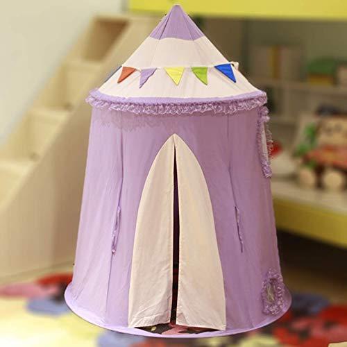chaozhi Tienda de campaña de algodón para niños del hogar, casa de Juegos, casa de yurta para niñas, Tienda de campaña para Interiores, Juguete de Castillo para bebés, púrpura-Purple