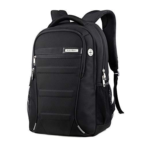 ASPENSPORT ビジネスリュック Laptop Backpack スクールリュック PC収納バックパック黒 メンズ レディース ブラック AS-B06BLK20