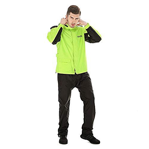 Regenjas regenbroek Suit Adult Split regenjas Motorrijden Explosion-proof Rain Raincoat Jacket Male (Color : Black, Size : L)
