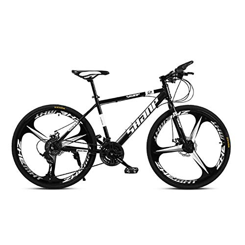 Caiyan Bicycle,High-Speed Mountain Bike 26 Inches,21-Speed Dual Disc Brake Bicycle,for Off-Road,Mountain,Adult Riding,Black