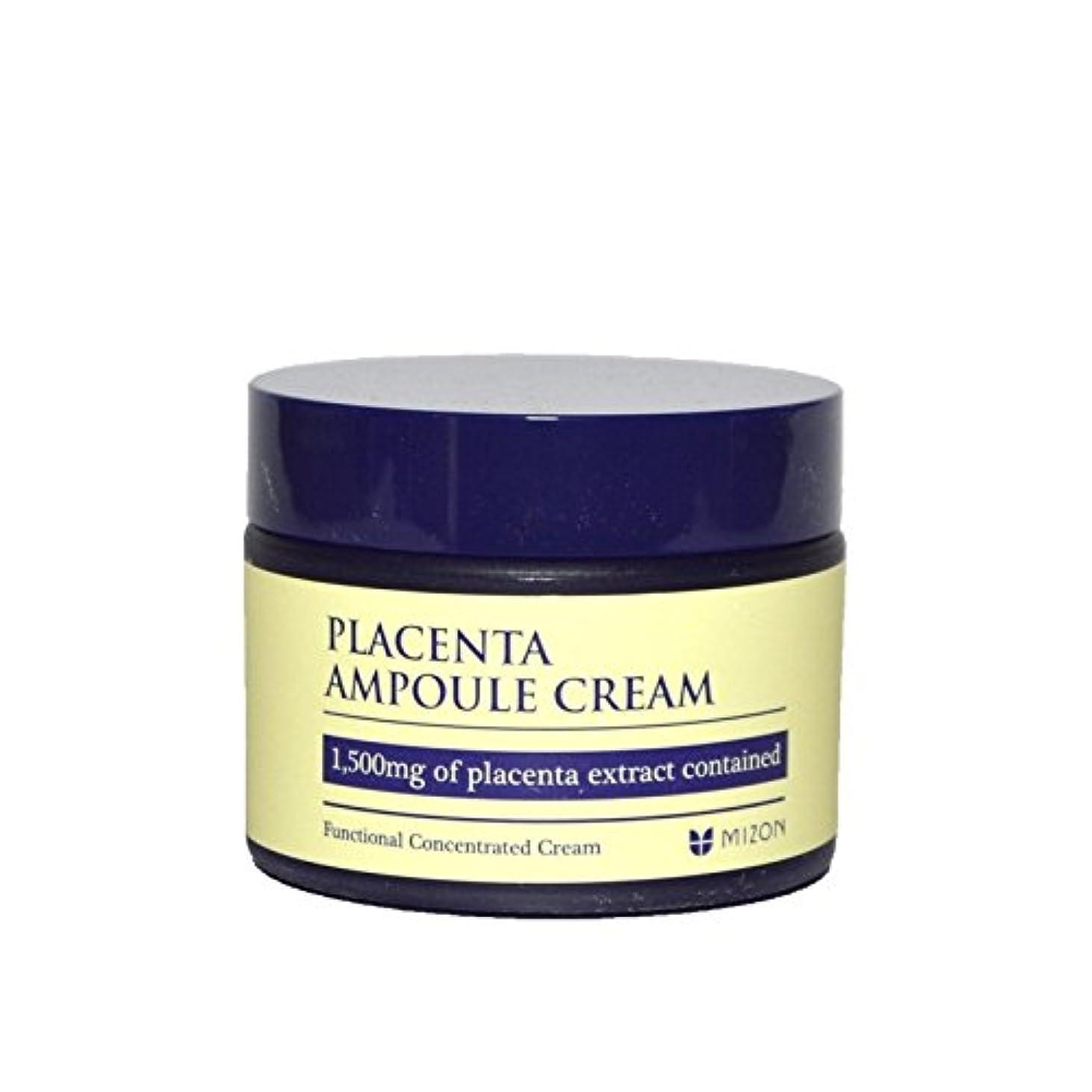 ハンカチ自宅で顔料Mizon Placenta Ampoule Cream (Pack of 6) - 胎盤アンプルクリーム x6 [並行輸入品]