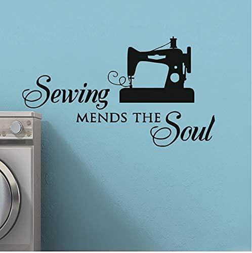 Cucire Guarisce The Soul Wall Sewer Appuntamento Wall Sticker Accessorio Di Cucito Decorazione Rimovibile Vinile Cuciture Finestra A Parete 32X56Cm