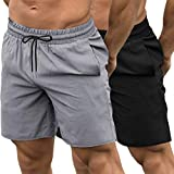 COOFANDY Men's 2 Pack Gym Workout Shorts Quick Dry Bodybuilding Weightlifting Pants Training Running...