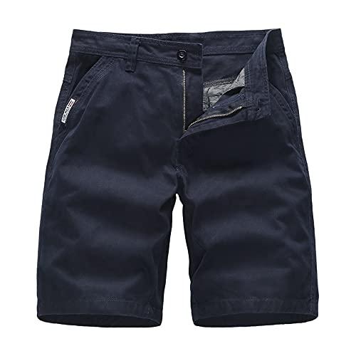 Pantalones Cortos de Verano de Ajuste clásico Casual para Hombre con Bolsillos Pantalones Cortos Deportivos Ligeros para Ejercicio atlético Fitness Culturismo 33
