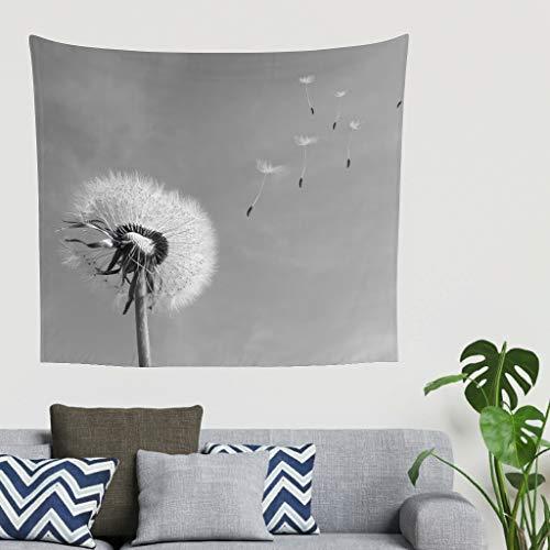 Zhouwonder Tapiz para colgar en la pared con imágenes, decoración de la naturaleza, decoración del hogar, decoración de dormitorio, color blanco, 200,7 x 149,9 cm