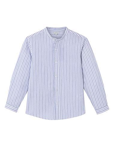 Gocco Camisa Mao Rayas Dobby, Azul Medio, 9-10 años para Niños