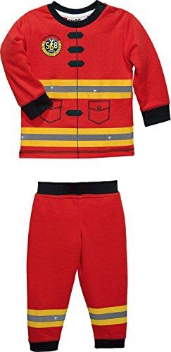 Erwin Müller Kinder-Schlafanzug Interlock-Jersey rot Größe 98/104