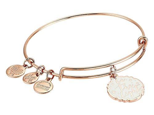 Alex and Ani Be The Light Bangle Bracelet Shiny Rose Gold One Size
