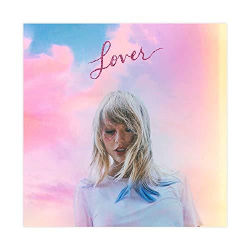 American Female Cantante Taylor Swift Lover The Album Cover Lienzo Póster Decoración Dormitorio Deportes Paisaje Oficina Decoración Regalo 30 × 30 cm Unframe-style1