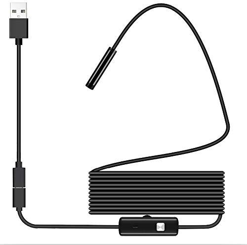 HCCX Professionele Auto Reparatie Gereedschap Endoscoop Camera Waterdichte Inspectie Borescope Camera voor Android PC Notebook 6Leds Verstelbaar