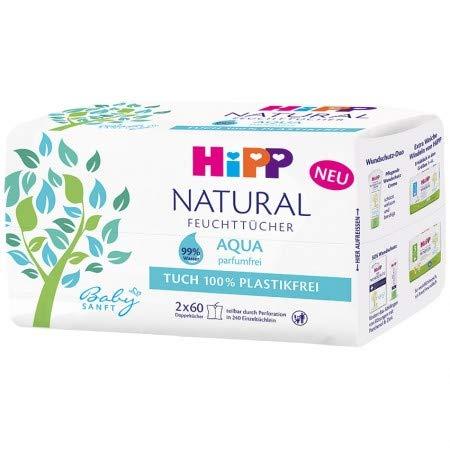 Hipp Babysanft Feuchttücher NATURAL Aqua 6 x 60 Feuchttücher