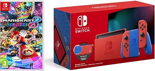 Nintendo Switch (Mario Red & Blue Edition) + Mario Kart 8 Deluxe (Nintendo Switch)