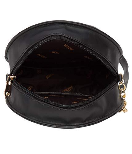 ADISA women girls black embroided sling bag