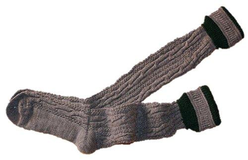 P.S. Schuhmacher Trachtensocken Kniebundstrümpfe für Lederhose Strümpfe Socken Stutzen grau...