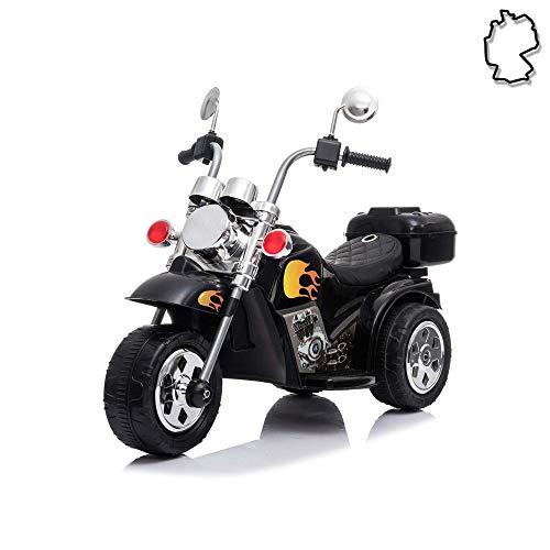 Himoto HSP Kinder Elektro-Motorrad, Elektroauto mit starkem Motor und wiederaufladbarem Power Akku, Ride on Cars, Chopper, Fahrzeug bis ca. 3 km/h, Traglast bis max.25 Kg