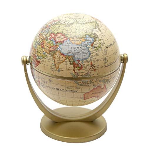 beiyoule Mini World Globe for Kids,Educational Rotating World Map Globes,Compact Mini Political Globe,Learn Earth Geography - Kids School, Home Office, Shelf Desktop Display