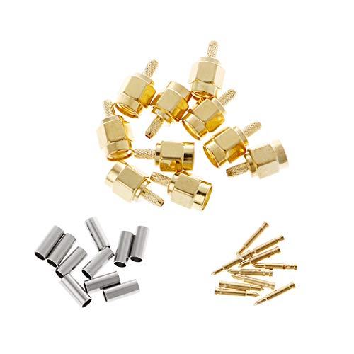 BIlinli 10 Stücke SMA Stecker Crimp RG174 RG316 LMR100 Kabel Rf-anschluss