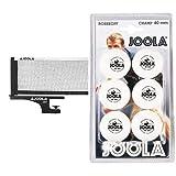 Joola 31008 - Red / Postes de Ping Pong ( con Soporte ) , Color Negro + TT Ball - Pelota de Ping Pong, Color Blanco