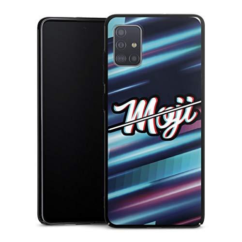 DeinDesign Hard Case kompatibel mit Samsung Galaxy A51 Schutzhülle schwarz Smartphone Backcover Youtuber Moji Motorrad