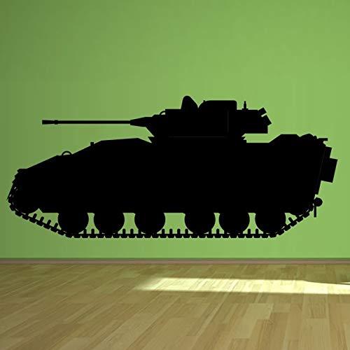 AKmene Serie Militar Vinilo Pared Pegatina Tanque Pared Arte guardería habitación decoración Pared calcomanía57X132cm