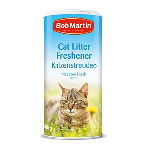 Bob Martin   Désodorisant en Poudre antibactérienne pour litière de Chat, avec Parfum Frais de Prairie   Contrôle Efficace des odeurs pour Une fraîcheur Longue durée   Fabriqué au Royaume-Uni (500 g)