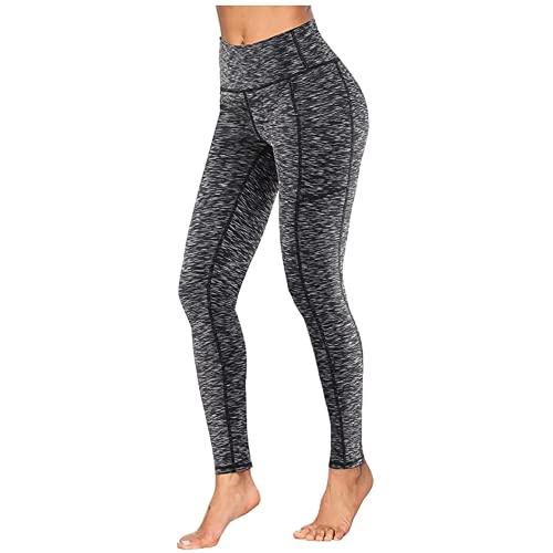 QTJY Mallas de Ejercicio elásticas de Moda para Mujer, Ejercicio físico, Pantalones de Yoga para Correr, Cintura Alta, Caderas, Pantalones de Fitness Delgados, B S