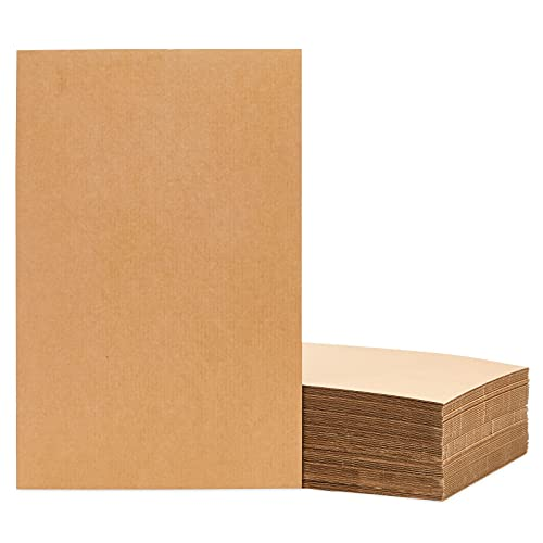 Corrugated Cardboard Sheets 11 x 17 in for Packing Inserts, Mailing, Crafts (1/16 in thick, 50 Pack)