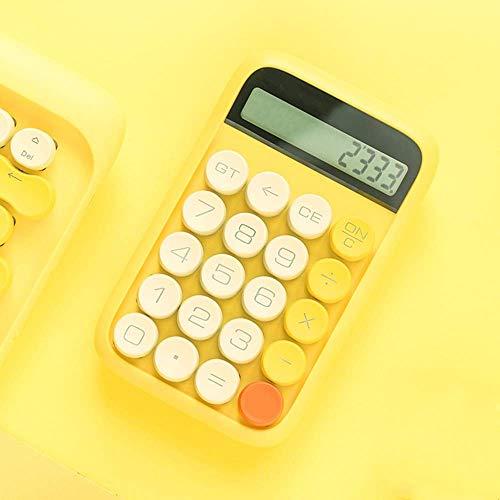 Rechner Rechner Retro Punkt mechanische Platten Knopf Mini nette Rechner Arithmetik Rechner Taschenrechner Klein (Farbe: Gelb, Größe: 14.8x9.2cm) jilisay (Color : Yellow, Size : 14.8x9.2cm)