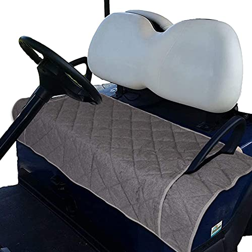 CEMGYIUK Golf Cart Seat Cushion Cover,Heavy Duty Oxford Cloth Golf Cart Seat Blanket Covers for 2-Person Seats Yamaha Club Car,Comfortable Durable,Travel Sports Essential Golf Accessories with Pocket
