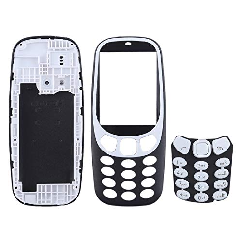 Digitaal Volledige Assembly behuizing met toetsenbord for Nokia 3310 Accessory (Color : Black)