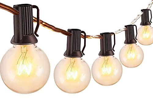 Catena Luminosa Esterno - 10m Luci da Esterno Giardino,30+6 G40 Lampadine Lucine da Esterno LED Catene Luminose Esterni Decorative per Natale Terrazzo Matrimonio Partito